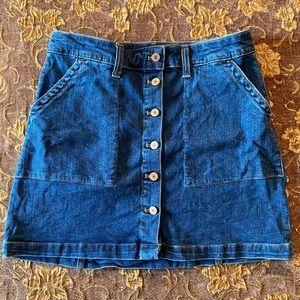 *NEVER WORN J. Crew Denim Button Front Mini Skirt